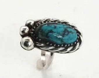 Turquoise ring set in Sterling silver