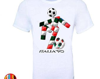 World Cup Italia Italy 1990 Football Soccer Retro Vintage T-Shirt - Kids And Adult Sizes