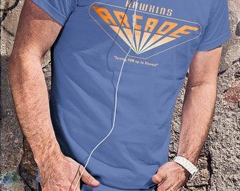 Hawkins Arcade - Stranger Things Men's Unisex T-Shirt - 1980's Science Fiction Horror Parody Clothing