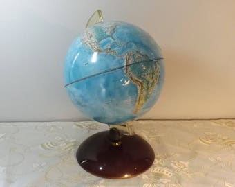 Rare globe en relief RICO FIRENZE. World. Earth. Vintage. France