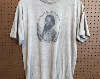 1970s/80s General Stonewall Jackson shirt Vintage Medium Soft and Thin
