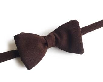 "Brown Self Tied Bow Tie ""Onnes"", Best Handmade Gift for Men, Weddings, Birthday, Valentines Day"