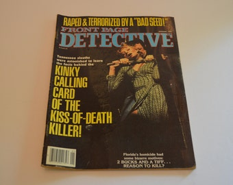 January 1984 Front Page Detective Magazine