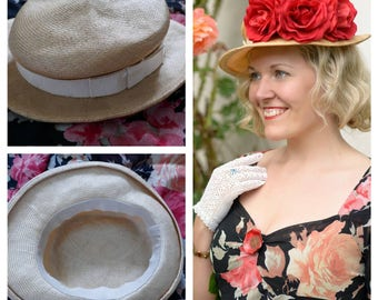 1930s inspired boating hat