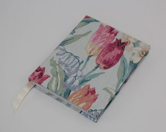A6 Sketchbook Hand Covered in a contemporary Sanderson fabric