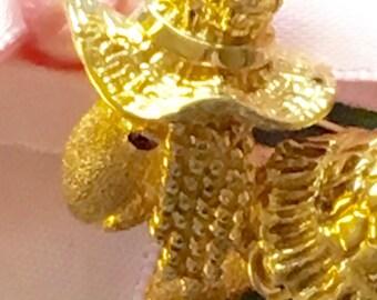 Vintage 1960s 14K Gold DanFrere Turtle Brooch