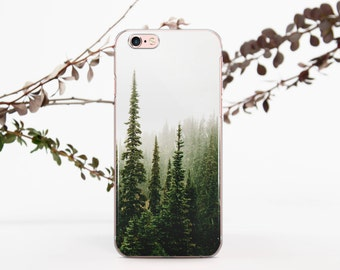 Forest iPhone Case iPhone X Case Nature Samsung Galaxy Note 8 Phone Case Misty Woods iPhone 7 8 Plus Case Samsung Galaxy S7 S8 Case 696D1051