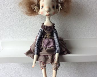 O.O.A.K. Art Doll Moppiedoll Jessica de Geus Pleun