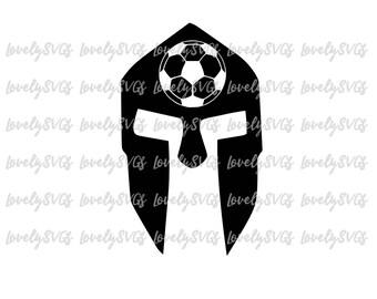 Instant Download SVG Studio3 - Soccer Spartan Helmet - Jpeg PDF - Silhouette Cruicut Files