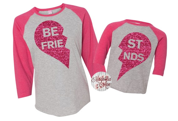 Best Friend Raglan Shirts, BFF Shirts, Mommy and Me Shirts, Matching Shirts, Dad and Son, Matching Outfit, Plus Size Mommy and Me, BFF Shirt