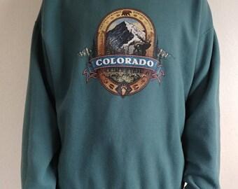 Vintage Colorado Mountain Sweatshirt