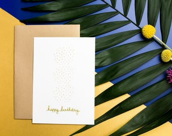 Screen printed 10, 5 X 14, 7 CM - GRAPHIC birthday card