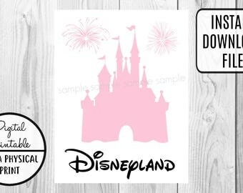 Disney Disneyland Castle Vacation - Mickey Mouse Birthday Iron On Shirt Transfer - tshirt - Instant Download