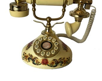 Vintage Victorian Rotary  French Phone Telephone
