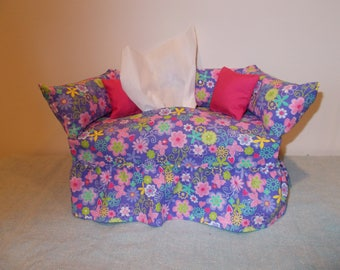 Butterfly and Flower Couch Tissue Box Cover