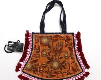Handmade Ethnic Designer Tribal Banjara Patchwork Embroidered Hippy Fashionable Stylish Trendy Hippie Gypsy Boho Bohemian Fancy Bag G283