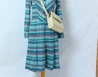 Mod dress//70's dress//70' dress//70s dress//Retro dress//Striped dress//Vestido psicodelico//1970s dress//Kleid//Robe//Klänning//ドレス