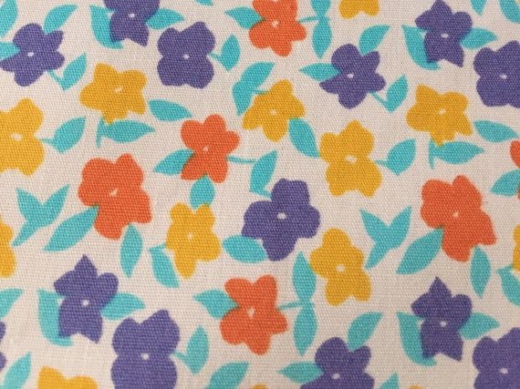 yellow blue and orange floral fabric cotton poplin fabric uk. Black Bedroom Furniture Sets. Home Design Ideas