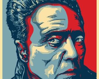 "WALKEN 2020 ""HOPE"" Style Election Posters - 11""x17"" - Christopher Walken ""More Cowbell!"""