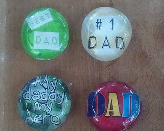 Father's Day Magnets - Military Dad Magnets - Worlds Best Dad Magnets - Father's Day Gift