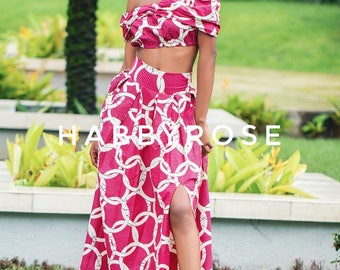 Soni African top, Off shoulder top, african print top, floral print top, top, blouse, crop top, midriff top