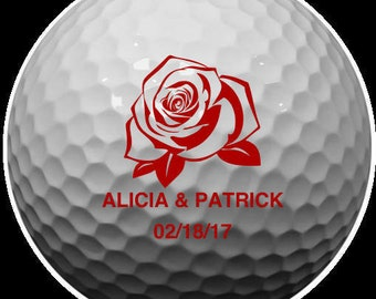personalized golf balls/