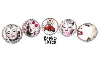 Ring pinup Rockabilly - Marilyn retro vintage