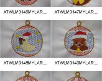 Mylar-Christmas-Ornaments ( 10 Machine Embroidery Designs from ATW ) XYZ17F