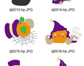 Cute-Living-Pumpkins ( 10 Machine Embroidery Designs from ATW ) XYZ17H