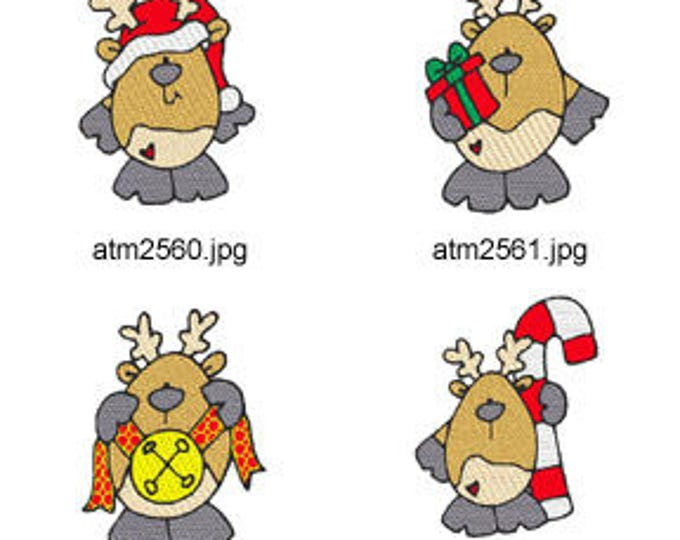 Chubby-Reindeer ( 7 Machine Embroidery Designs from ATW ) XYZ17M