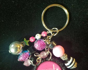 Perfectly Posh beaded keychain