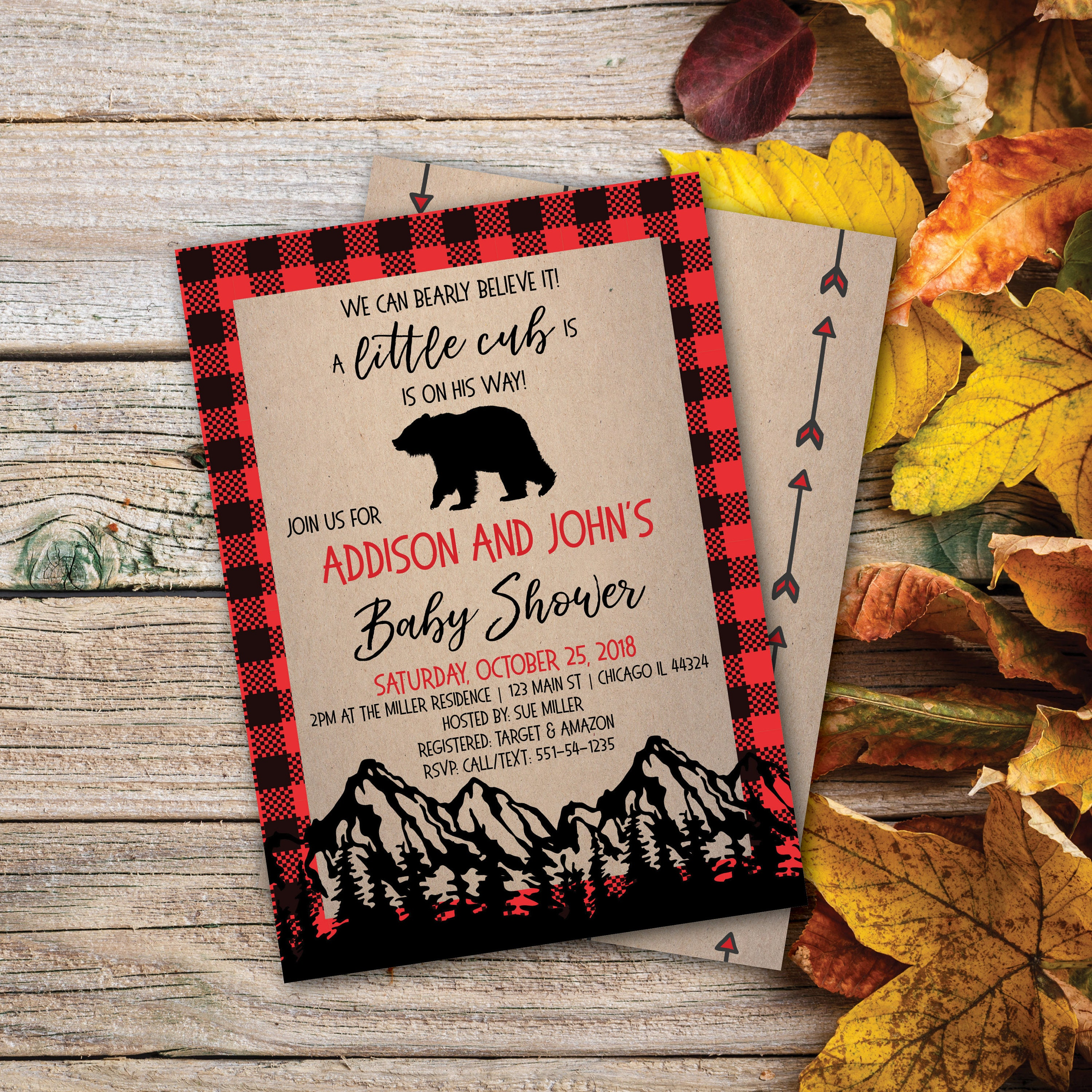 Bear Baby Shower | Cub | Rustic Baby Shower | Hunting |Wilderness ...