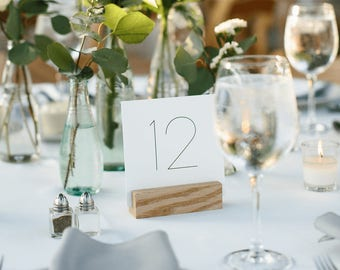 Printable Simple Table Numbers