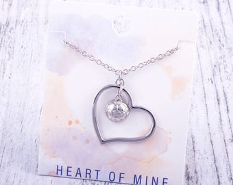 Customizable! Heart of Mine: Soccer Silver Necklace - Great Soccer Gift!