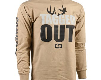 GIMMEDAT Tagged Out Long Sleeve Hunting T-Shirt - Hunting Shirts - Free Shipping!