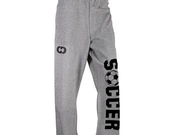 Soccer Logo Sweatpants - 8 Colors, Free Shipping! Great Soccer Gift!