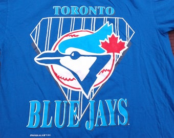 Vintage 1993 90's Toronto Blue Jays Starter t-shirt Medium Made in Canada