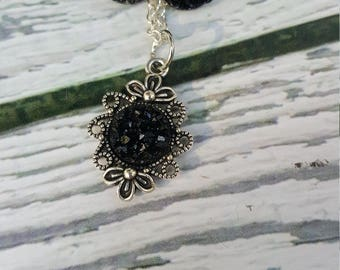 Baby Faux Druzy Gems Jewelry, Black Druzy Gems, Impala, Supernatural, Druzy Earrings, Druzy Pendant, Gothic, Sci Fi, Fantasy, Demon Hunters