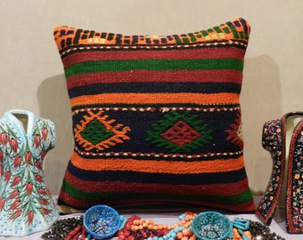 kilim pillow, turkish pillow,handmade pillow,decorativepillow,20x20inch,50x50cm