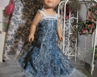 Handmade Doll Clothes, Evening Fun or Princess Gown, Fits 18 Inch American Girl Dolls and other 18 inch dolls