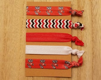 Wisconsin Badgers Hair Ties