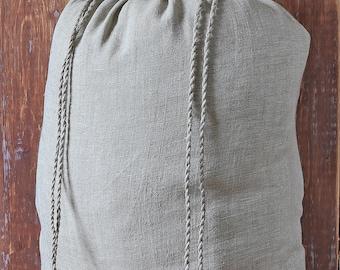 Laundry linen bag, Large storage bag, Drawstring laundry bag, Big laundry bag, Natural linen lingerie bag, Eco storage bag