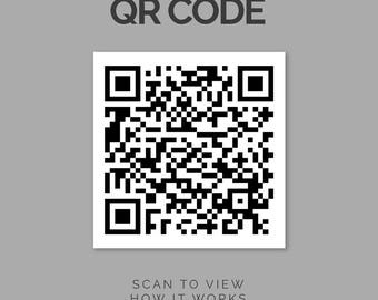 QR Code Option for Custom Sound Wave Products, Custom Sound Wave, Sound Wave Print, Voice Wave Print, Sound Wave Art, Personalized Wave
