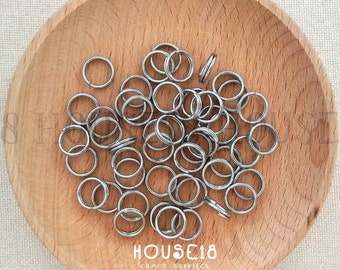 10mm Stainless Steel Split Ring Bulk Split Ring Double Loop Jump Ring 500 PCS Jewelry Making Supplies Wholesale 3/8""