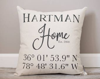 First Home Gift for Couple | Personalized Housewarming Gifts | New Home | First Home Gift | Home | Personalized Coordinates Gift | GPS