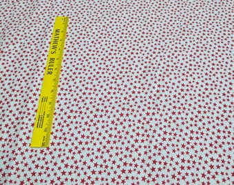 Made in the USA-Red Stars Cotton Fabric