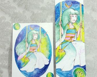 Postcard & Bookmark zodiac - Virgo
