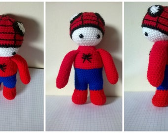 Spidy doll dressed as Spiderman