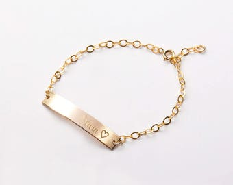 Custom Name Adjustable Bracelet-Coordinate Dates-Both Sides-Best Friend-Bridesmaids Gift-Personalized Bar-14K Gold Filled-Rose-Silver-CG298B