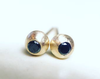black diamond orbit earrings